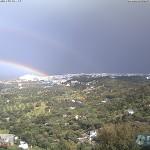 ostuni con arcobaleno