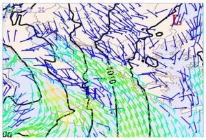 Fig.1 Analisi al suolo del 28/11/2012 alle ore 07 locali